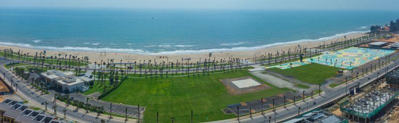 Dự án NovaWorld Phan Thiet sở hữu 7 km mặt tiền biển Tiến Thành với loạt tiện ích đẳng cấp sắp hoàn thiện như công viên biển, sân golf PGA, shophouse... (Ảnh chụp thực tế Dự án tháng 3/2021)