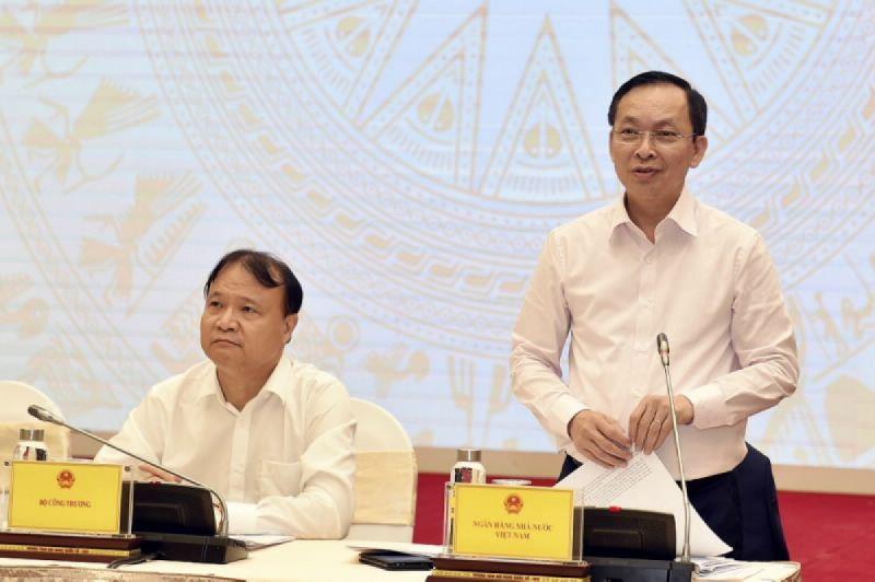 Phó Thống đốc thường trực Ngân hàng Nhà nước Đào Minh Tú phát biểu tại buổi họp báo Chính phủ thường kỳ tháng 3/2021.