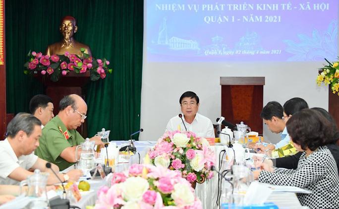 Chủ tịch UBND TP Nguyễn Thành Phong làm việc với quận 1