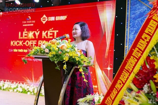 bà Phạm Thị Lam, Chủ tịch Hội Đồng Quản trị Tân Thời Đại chia sẻ mục tiêu, chiến lược và định hướng phát triển của công ty