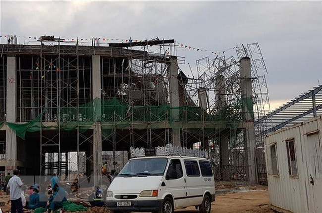 Hiện trường tai nạn lao động tại công trình xây dựng.