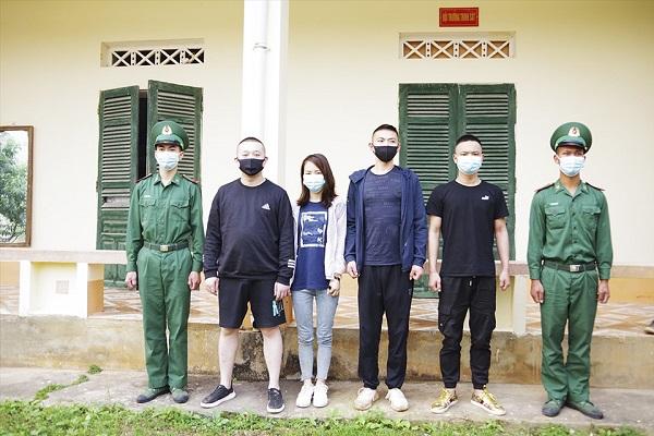 4 người Trung Quốc xuất cảnh trái phép bị Bộ đội Biên phòng bắt giữ