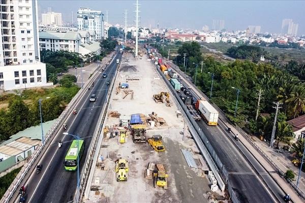 Cầu Mỹ Thủy 3 thuộc dự án nút giao thông Mỹ Thủy (TP. Thủ Đức)