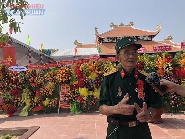Thương binh Nguyễn Minh Sang (79 tuổi), nguyên chiến sĩ tham gia chiến đấu chống Mỹ tại chiến trường Xuân Lộc