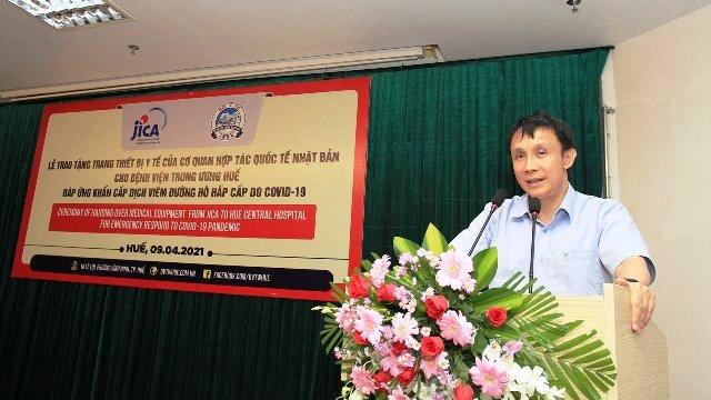GS-TS, Giám đốc BVTW Huế phát biểu tại lễ bàn giao