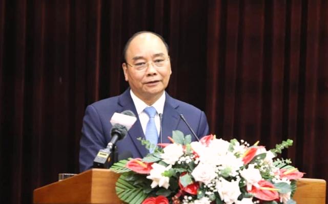 Chủ tịch nước Nguyễn Xuân Phúc phát biểu tại buổi làm việc.