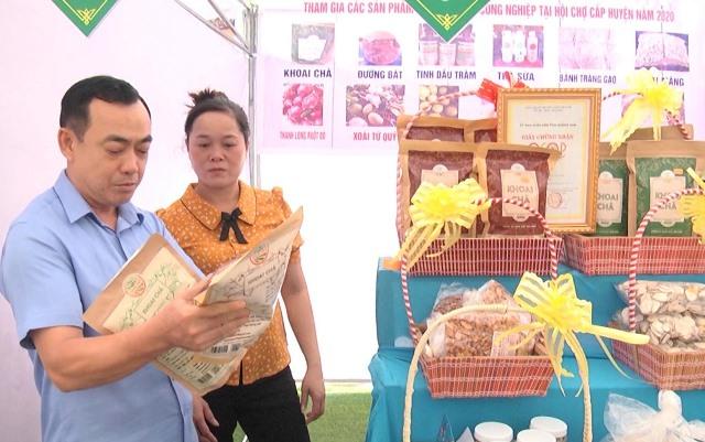 Sản phẩm khoai chà của Hợp tác xã Nông nghiệp An Xuân Sơn (xã Quế Mỹ) đạt chuẩn OCOP 3 sao cấp tỉnh