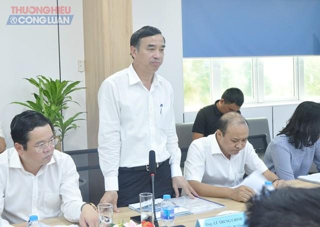 Chủ tịch UBND thành phố Đà Nẵng Lê Trung Chinh phát biểu tại buổi làm việc