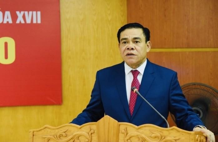 Tân Chủ tịch UBND tỉnh Hà Tĩnh Võ Trọng Hải phát biểu tại lễ nhận chức