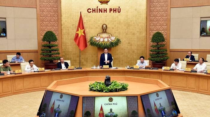 Thủ tướng Chính phủ Phạm Minh Chính phát biểu tại phiên họp. Ảnh: baochinhphu.vn