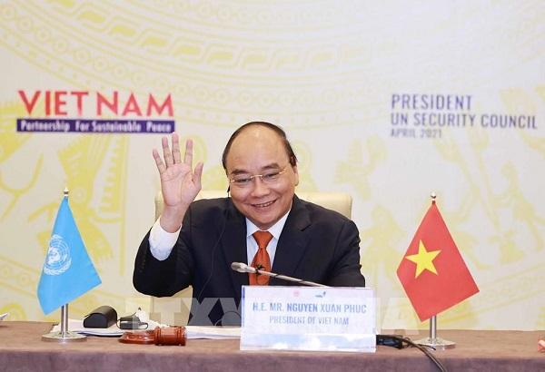 Chủ tịch nước Nguyễn Xuân Phúc tham dự hội nghị Thượng đỉnh Khí hậu (Ảnh TTXVN)