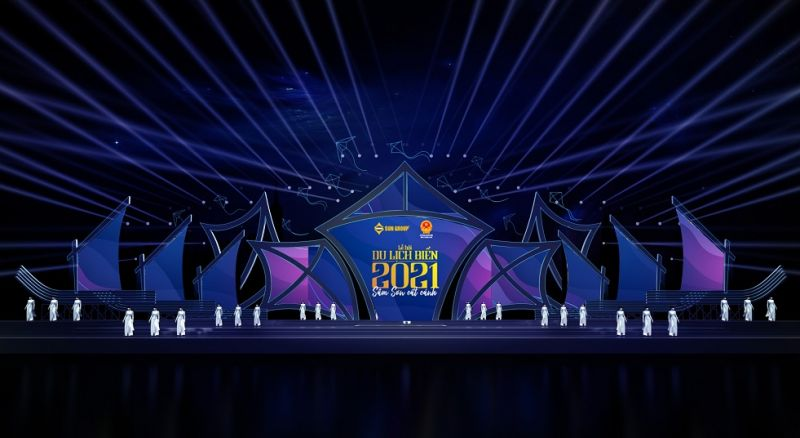 Phối cảnh dự kiến sân khấu Đêm khai mạc Lễ hội biển 2021 Sầm Sơn - Thanh Hóa