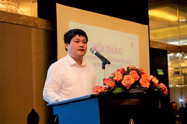 Ông Nguyễn Tử Hiếu - Phó Vụ trưởng Vụ Trang thiết bị và Công trình Y tế (Bộ Y tế) phát biểu tại hội thảo