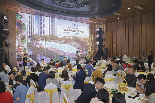 Sự kiện mở bán tòa Nguyệt Quế thu hút sự tham gia của đông đảo khách hàng, nhà đầu tư