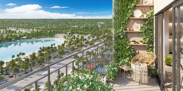 """Thiết kế """"vườn ban công"""" phủ đầy sắc xanh tại tòa Nguyệt Quế được khách hàng yêu thích"""