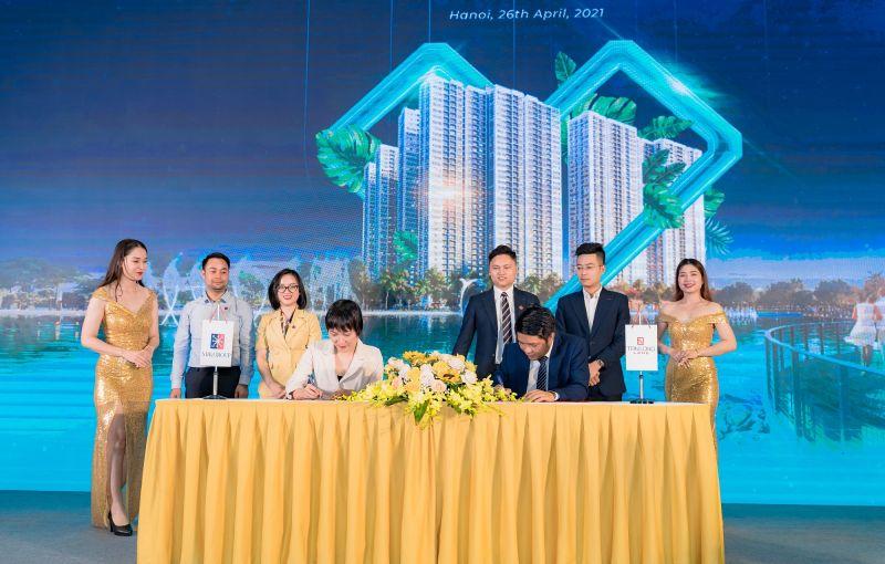 Đại diện MIKGroup và Tân Long Land ký kết hợp tác phân phối độc quyền dự án Imperia Smart City