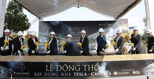 Trung Nguyên Legend và các đối tác thự hiện Lễ động thổ xây dựng nhà Tesla - Cantata