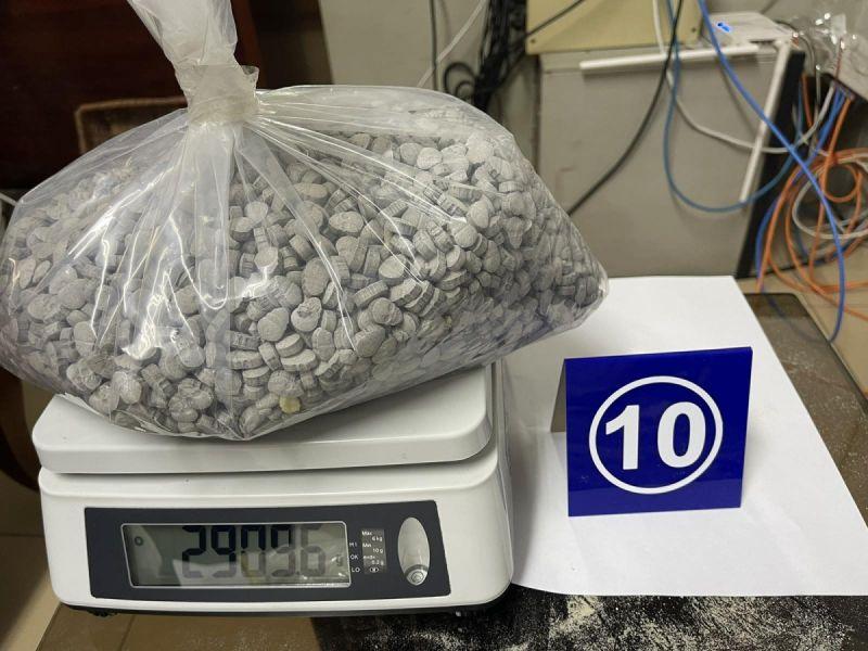 Một lượng lớn ma túy tổng hợp được phát hiện
