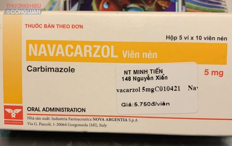 Thuốc Navacarzol Nhà thuốc Minh Tiến bán cao gần gấp 3 lần giá thị trường