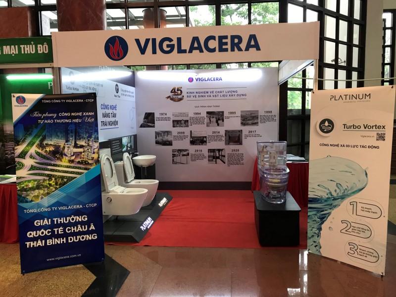 Gian hàng của Viglacera tại triển lãm