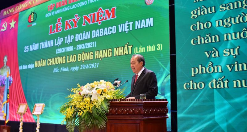 Ông Trương Hòa Bình – Phó Thủ tướng Thường trực Chính phủ phát biểu chỉ đạo tại lễ kỷ niệm
