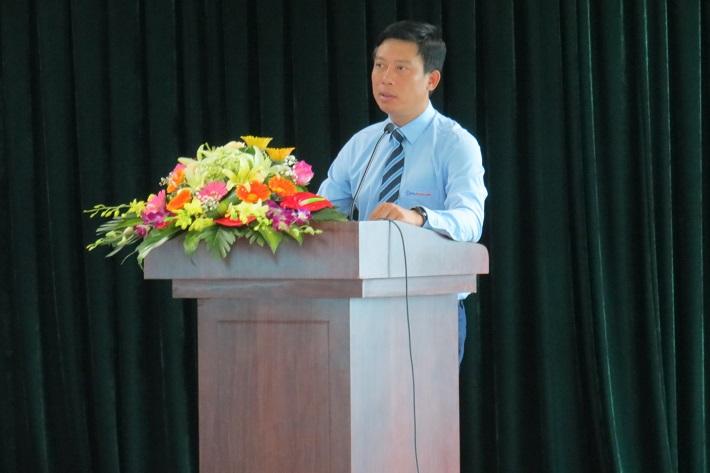 Ông Tạ Trung Kiên – Bí thư Đảng ủy, Giám đốc Công ty phát biểu