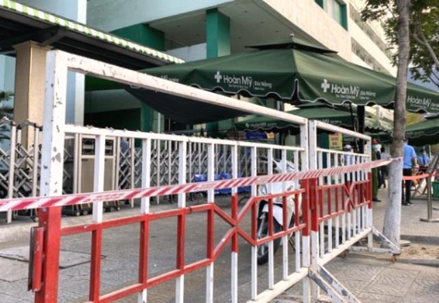 Chiều ngày 3/5, cơ quan chức năng đã lập rào chắn tại Bệnh viện Hoàn Mỹ -TP. Đà Nẵng do liên quan ca dương tính với SARS-CoV-2