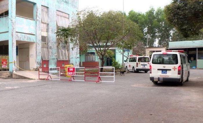 Khu vực cách ly tại Bệnh viện Phổi Đồng Nai