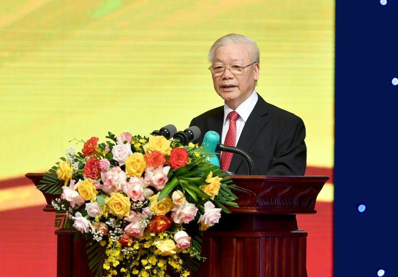 Tổng Bí thư Nguyễn Phú Trọng: Ngành ngân hàng cần tiếp tục nỗ lực làm tốt vai trò huyết mạch của nền kinh tế. Ảnh:VGP