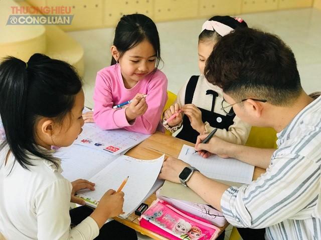 Các em học sinh trường mầm non Talent kids, TP Thanh Hóa