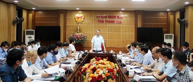Phó Chủ tịch UBND tỉnh Thanh Hóa Lê Đức Giang phát biểu kết luận hội nghị
