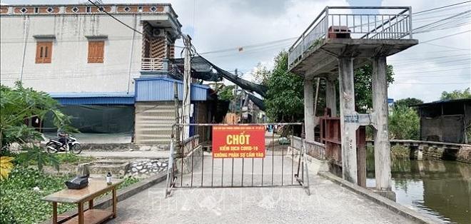 Tiến hành phong tỏa tổ dân phố Tây Kênh, thị trấn Cổ Lễ, huyện Trực Ninh, tỉnh Nam Định.
