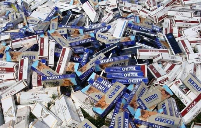 Hơn 4000 bao thuốc lá nhập lậu vừa bị lực lượng chức năng tỉnh Sóc Trăng phát hiện và bắt giữ. Ảnh: Minh họa