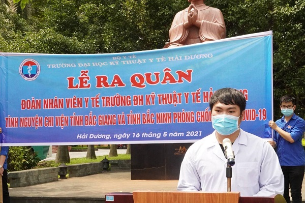 Lễ tổ chức lễ xuất quân chi viện cho hai tỉnh Bắc Giang và Bắc Ninh chống dịch