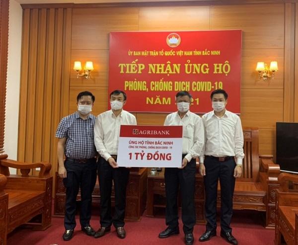Bắc Ninh tiếp nhận ủng hộ phòng, chống dịch Covid-19 từ Agribank