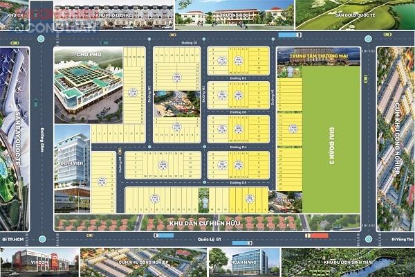 Sơ đồ phân lô dự án Khu dân cư Phước Bình Mới (tên thương mại Royal Land 2)