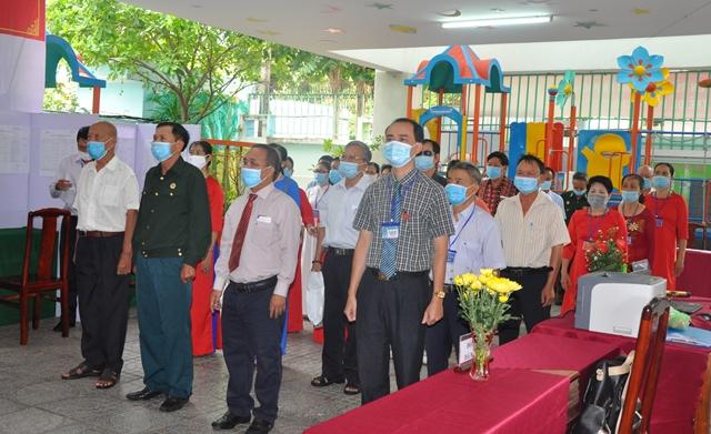 Lễ khai mạc bầu cử đại biểu Quốc hội khóa XV và HĐND các cấp tại Khu vực bỏ phiếu số 6, phường 2, Tp. Vũng Tàu.