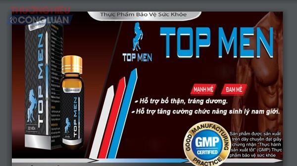 Nội dung quảng cáo sản phẩm TPBVSK TOP MEN được Cục An toàn thực phẩm phê duyệt