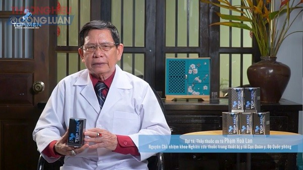 Sử dụng hình ảnh Đại tá, Thầy thuốc ưu tú Phạm Hòa Lan – nguyên Chủ nhiệm khoa nghiên cứu thuốc, trang thiết bị y tế - Cục Quân y, Bộ Quốc phòng để quảng cáo cho sản phẩm.