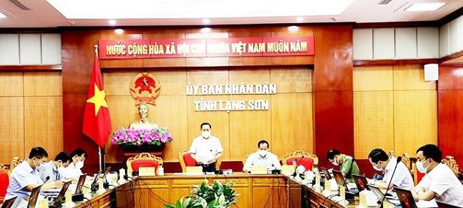 Chủ tịch UBND tỉnh Lạng Sơn Hồ Tiến Thiệu chủ trì cuộ họp