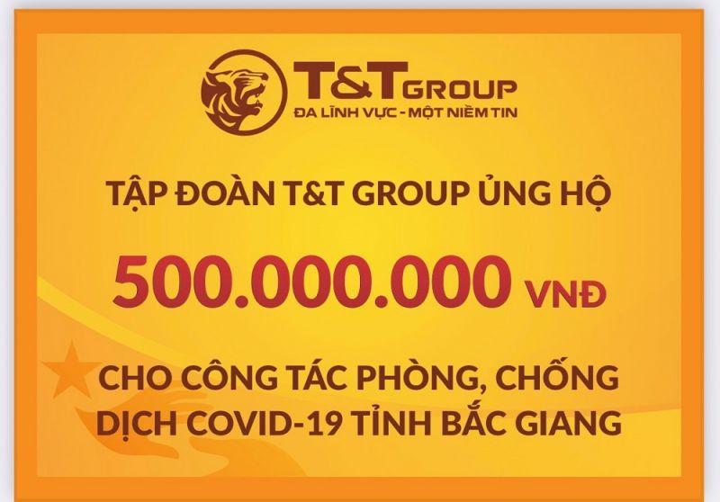 Tập đoàn T&T Group tiếp tục trao tặng tỉnh Bắc Giang 500 triệu đồng