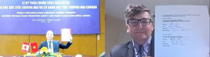 Lễ Ký thỏa thuận hợp tác giữa Cục Xúc tiến thương mại và Tổ chức Xúc tiến thương mại TFO Canada