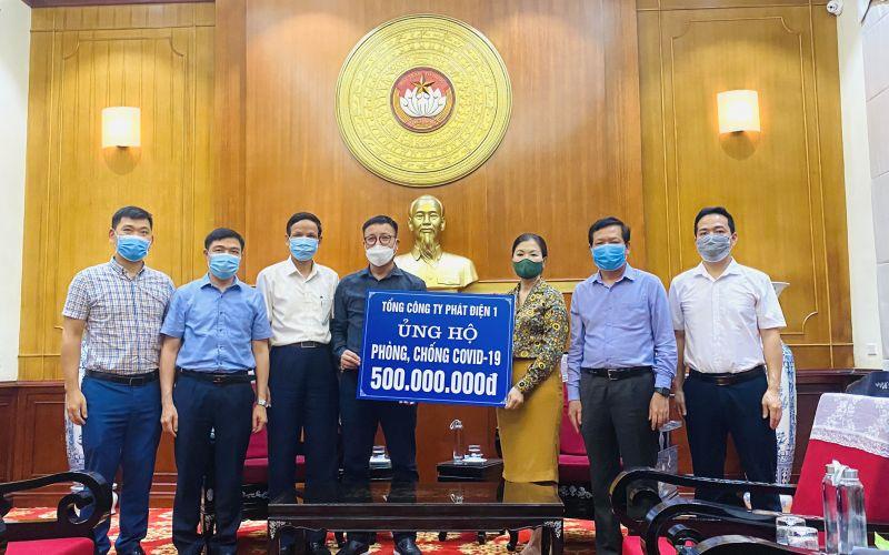 Số tiền ủng hộ được EVNGENCO1 trao thông qua UBTW MTTQ Việt Nam