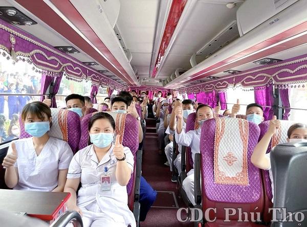 Đoàn y tế tỉnh Phú Thọ quyết tâm cùng Bắc Giang đẩy lùi dịch Covid-19 (Ảnh CDC Phú Thọ)
