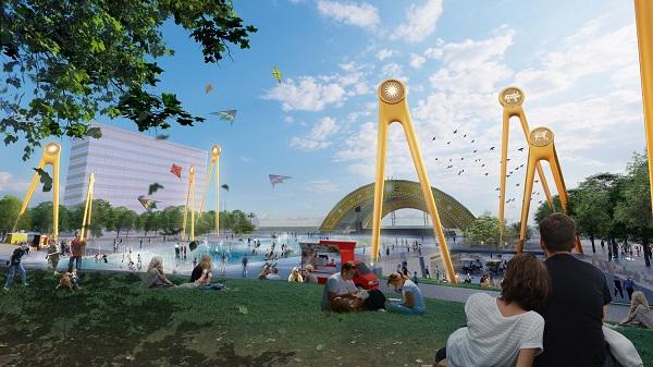 """Quảng trường biển và trục đại lộ trung tâm tại Sun Grand Boulevard sẽ biến Sầm Sơn thành """"thành phố không ngủ"""""""