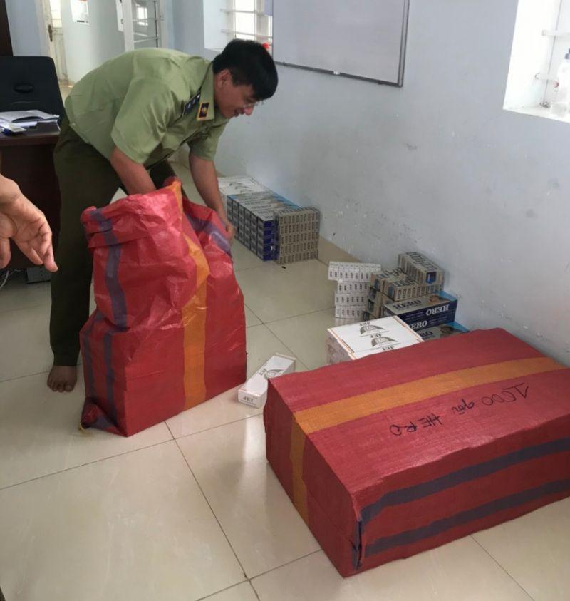 1.759 gói thuốc lá điếu ngoại bị tạm giữ của vụ việc 1