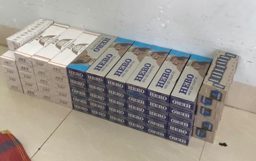 550 gói thuốc lá điếu ngoại bị tạm giữ của vụ việc 2