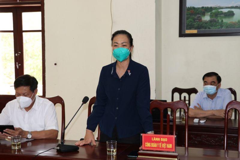 Chủ tịch Công đoàn Y tế Việt Nam Phạm Thanh Bình tin tưởng, tỉnh Bắc Ninh sẽ sớm khoanh vùng và kiểm soát được dịch bệnh.