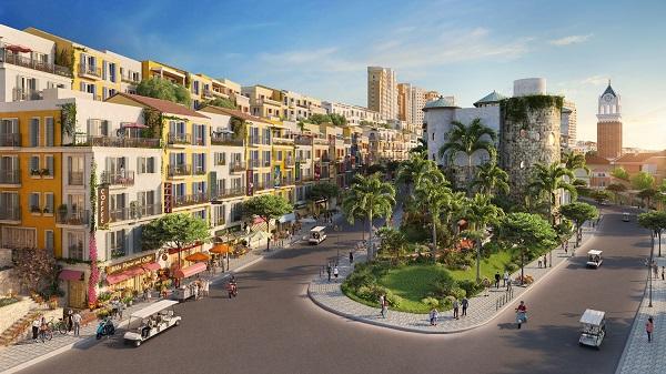 Khu nhà phố thương mại The Center sẽ là tụ điểm sôi động, đẳng cấp bậc nhất tại Nam Phú Quốc