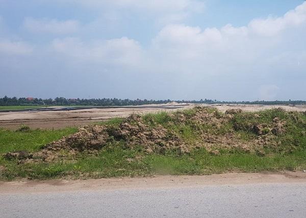 Chư đủ thủ tục doanh nghiệp đã tự ý san lấp hàng nghìn m2 đất nông nghiệp